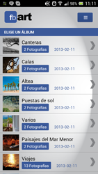 ScreenCapture fbART - Augmented Reality mobile App for canvas selling of Facebook Pictures